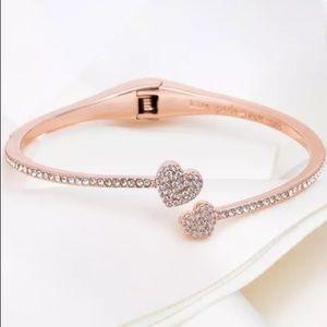 Gorgeous NWOT Kate Spade ♠️ pave heart❤️ bracelet!